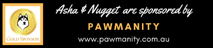 Gold sponsorship of Asha & Nugget by Pawmanity