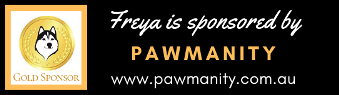Gold sponsorship of Freya by Pawmanity
